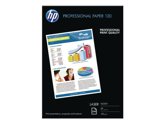 Hewlett Packard A4 White Glossy Photo Paper 120gsm (pak 250 vel)