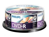 DVD-R Philips 4,7GB spindle 25
