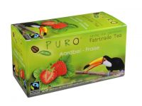 Thee Puro fairtrade aardbei/bx 6x25