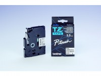 Tape P-Touch TZe-N201 3,5mm zwart op wit